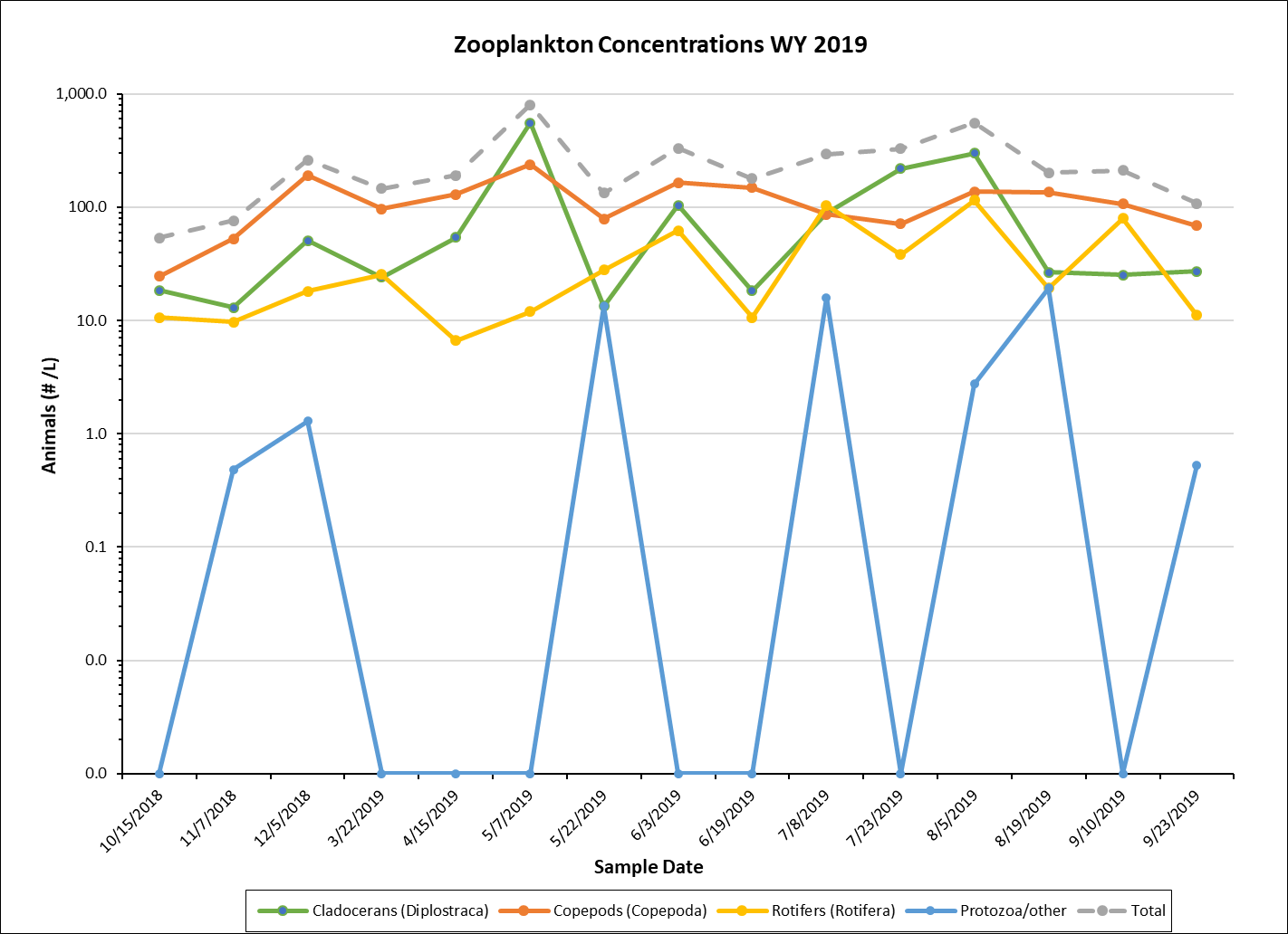 Zoooplankton Concentrations graph